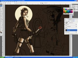Tomb Raider color W.I.P. by JoelPoischen