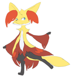 Mordio the Delphox by Keyroy