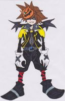 Sora en HalloweenTown by AiLawliet
