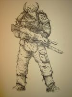 Chaos Renegade Soldier by WandelnderFlohsack