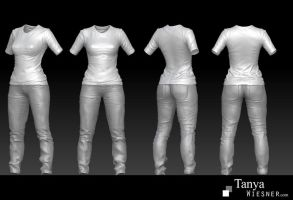 Zbrush Clothing by daylightdreams