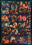FREE Halloween adoptables CLOSED by Roxalew