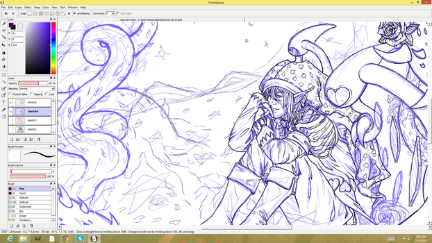 Wip Marx 2014 sketch wip idk anymore ugghh by JessySketches