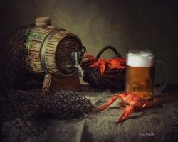 About beer with crayfish by Daykiney