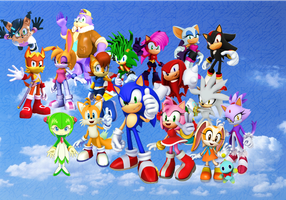 Sonic and his Friends TV Show,Comic and Video Game by 9029561