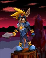 Sparkster - Rocket Knight by RunicKnight