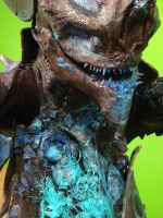 Close Up of Damaged Crabcat Kaiju by commanderholly