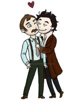 Cute Holmes and Watson by taconaco
