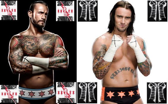 CM Punk (New) vs CM Punk (Old) by Moltenman1997