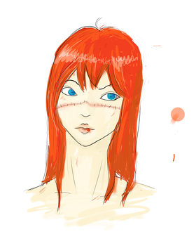 redhead by lalaapea