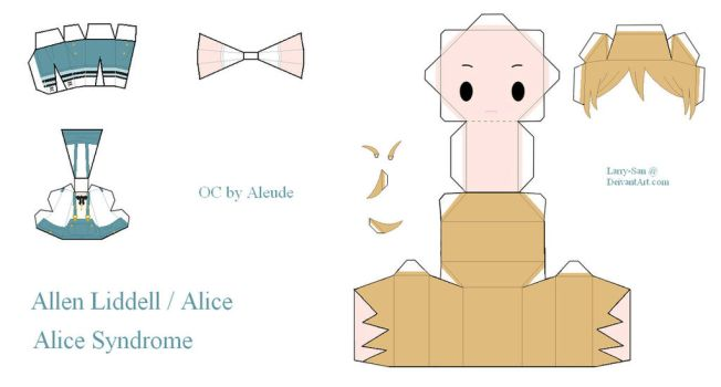 Alice Syndrome Papercraft - Allen Liddell / Alice by Larry-San