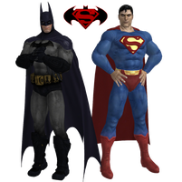 Batman and Superman by dnxpunk