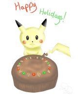Pikachu Got Fruitcake by Gingersnap87