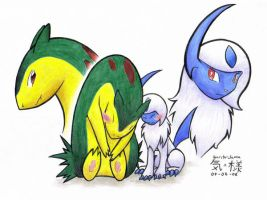 Absol and Typhlosion... by RenoVash