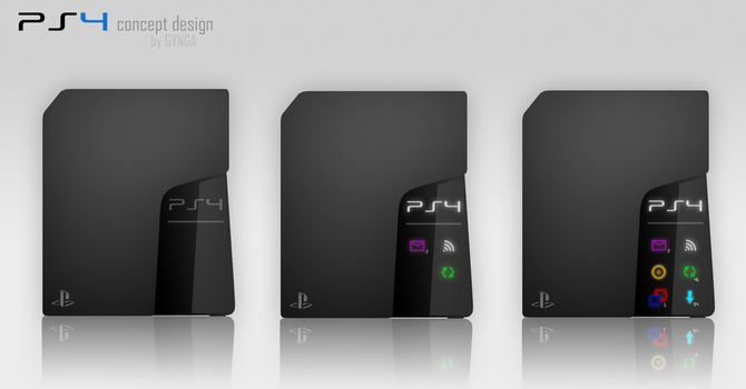PS4 concept design (black) by GYNGA