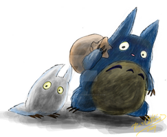 Tonari No Totoro by theblindalley