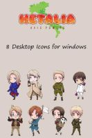 Hetalia Desktop Icons by Kuroi-Chibi-Usagi