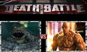 Killer Croc vs. Thing by ScarecrowsMainFan