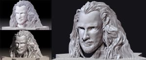 ZBrush Practice : Thorin Oakenshield by noei1984