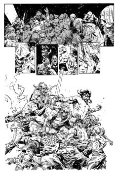 Conan Battle by urban-barbarian