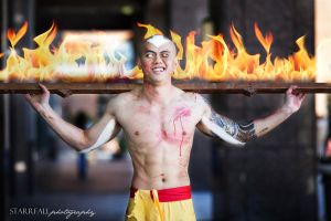 Aang Burns Down the Earth Kingdom by infernalsedation