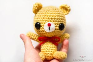 yellow bear by tinyowlknits