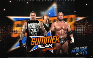 Summer Slam 2012 HHH vs Brock Lesnar by Photopops