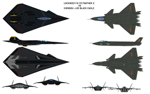 FA-70 VS J-20 by bagera3005