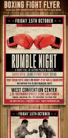 Vintage Boxing Flyer Template by Hotpindesigns