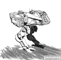 Aeolus Heavy Fire-Support Mech by Excalibur-T005
