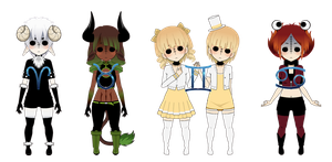Zodiac Dolls - Series 1 - Limited Time by Xx-Chellie-Bellie-xX