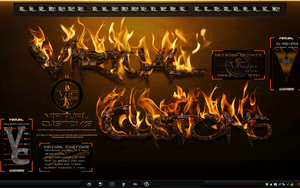 Virtual Customs Animated Flames Rainmeter... by mTnHJ