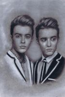 Jedward by ADRIANSportraits