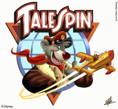 TaleSpin Logo Reworked by W-Goldwing