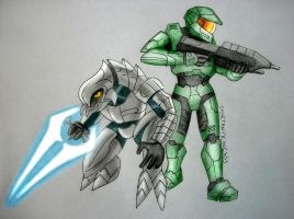 Master Chief and the Arbiter by SpartanPrincess