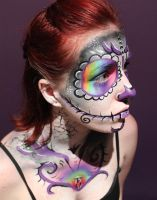 Day of the Dead Body Paint 03 by Faeriegem