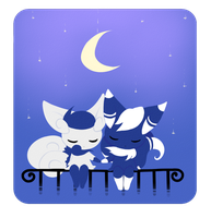 Meowstic couple by Joltik92