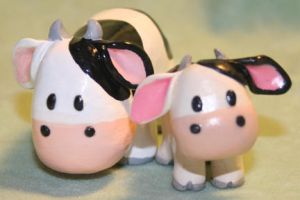 Harvest Moon cows by BriteWingz