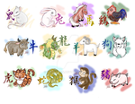 Silly Chinese Zodiac Animals by chiri-chan