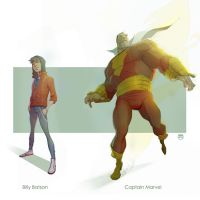Batson......Captain Marvel by CoranKizerStone