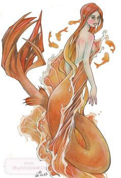 Golden Fish - Mermay 2017 by nati