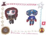 Black Widow and Captain America Rag Dolls by AgentofMischief