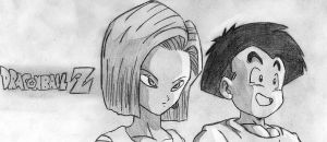 krillin and 18 by diegodragonbooster
