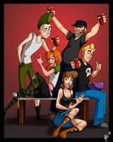 Commish: The Apartment 18 gang by Crispy-Gypsy