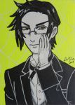 Claude Faustus ACEO card by LadyNin-Chan