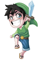 Luffy and Link = Lunky by WTFmoments
