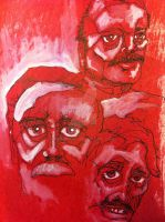 Red Dudes by artbybjm