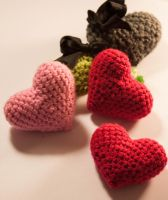 Crochet Love Hearts by esther-rose-mouse
