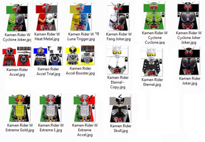 Kamen Rider W LEGO Decals by Digger318