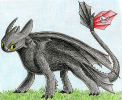 Toothless is Happy by CavySpirit